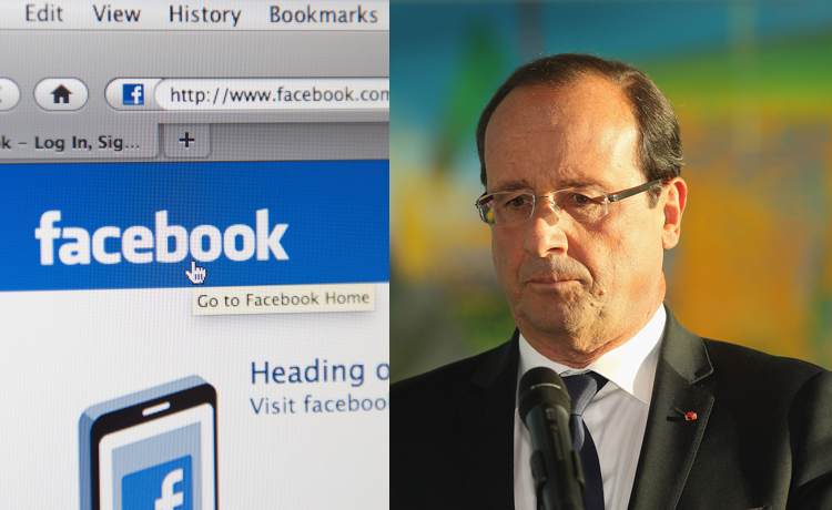 Hollande et Facebook