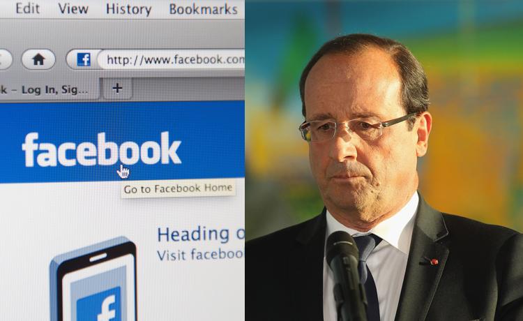 Hollande et Facebook
